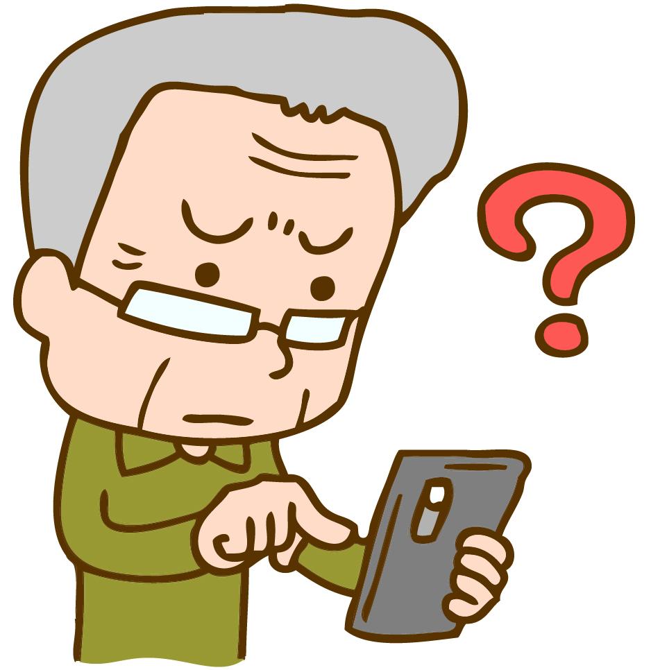 「高齢者 スマホ」の画像検索結果